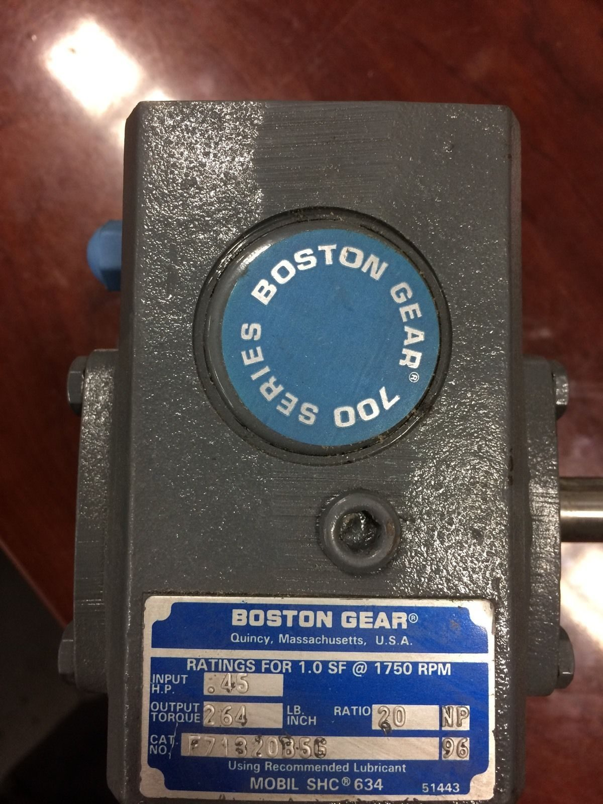 BOSTON GEAR BOX ,RATIO 20 ,700 SERIES